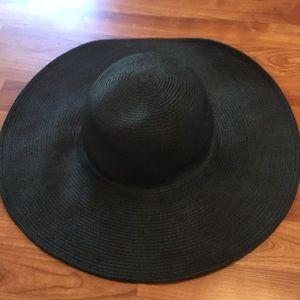 jcrew black floppy hat
